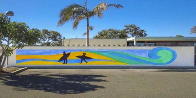 surfer-mosaic-mural